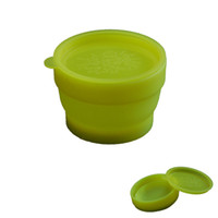 Wholesale Food grade Silicone Portable Outdoor Foldable Cup with Cover Baby Learning Cup Household Silicone Cup Supplies