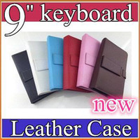Wholesale 100PCS NEW colours USB Keyboard Leather Case For inch Android Tablet pc Folding Leather Protective Case JP09