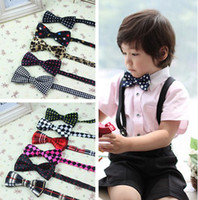 Wholesale Hot Selling New Design Children Various Pattern Bow Ties Baby Fashion Neckbow Kids Colorful Printed Tuxedo Formal Suit Neck Tie I1371