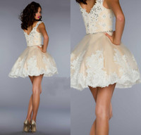 Cheap Reference Images short homecoming dresses Best Lace One-Shoulder Sexy