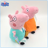 Wholesale 100 original single new baby kids peppa pig father and mother plush toys george pig dolls anime peppa pig toys