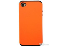 Wholesale 10 Colors in Dull Polish Silicone Shockproof Hybrid Cover Case for iPhone S iPhone4S Protective Phone Case