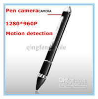 Wholesale HD Video Cameras P Mini Spy Pen Camera Motion Detection Video Recorder Pen Camera Digital Hidden Camera Ball point Pen