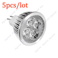 Wholesale 5pcs W LED W Halogen V MR16 Down Light Bulb Warm White For Studio Home
