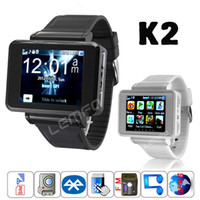 Wholesale K2 Smart Watch Phone quot Touch Screen Bluetooth Dial Smartwatch Phone Support GPRS FM MP3 MP4 Video with Sim Card Slot Camera