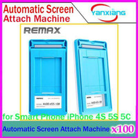 Cheap DHL 100PCS New brand REMAX Automatic Screen Attach Machine For iPhone For Samsung Universal tools no limited for mobile phone YX-LZ-12