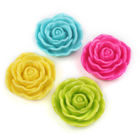 beads plastic beads - Mix Color Jumbo Rose Beads mm Chunky Beads Plastic Bead Flower Bead Large Rose Beads Resin Beads Gumball Beads Bubblegum Bead Necklace