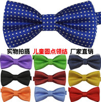 motif de cravate des enfants achat en gros de-Nouveau Design Enfants Coréenne Style 17 Cravates Bow Mode bébé Fashion Neckbow Enfants Dots imprimé Tuxedo / costume Costumes Bowknot I1373