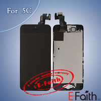 Wholesale For iphone C Full Complete black LCD Screen Front Display Digitizer Glass Screen Assembly with accessories amp