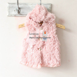 Wholesale Kids Waistcoat Winter Coat Children Clothing Girl Vest Winter Waistcoat Fashion Sleeveless Coat Warm Vests Baby Clothes Girls Cute Waistcoat
