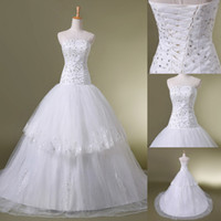 Cheap Under $100 In stock Sexy Wedding Dress Sequins 2014 Em...