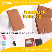 Cheap Flip Cover Fiber Case Jumbuck Flannel Fabrics with Stand Holder Credit Card Slots for Galaxy S4 S5 Note 3 iphone 4 5 5s with retail boxes