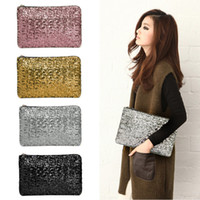 beaded evening clutch - New Dazzling Glitter Sparkling Bling Sequins Evening Party Envelope Clutch Bag Womens Handbags for sale H10357