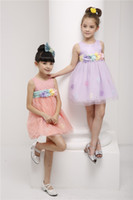 TuTu Summer A-Line Fashion Lace dress girls 100% Tutu Dress Vest dress Children Tulle Sundress Kids Tiered Party Dresses Birthday princess dress 3 Color 229A