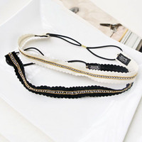Cheap Wholesale Fashion Rhinestone Lace Trimming Headband Female Hair Accessory Hair Ribbon HB3108