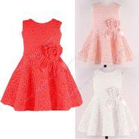 Wholesale Baby Kids Children s Girls Lovely Sleeveless Lace Vest Skirt Princess Dress Colors