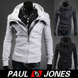 Wholesale PJ Korean Men s Slim Fit Double Placket Hooded Outwear Hoodies Size XS L CL4798