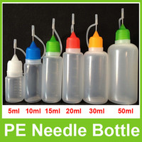 Electronic Cigarette Needle Bottle  PE Needle Bottle Plastic Empty Liquid Dorpper Drip Bottles 5ml 10ml 15ml 20ml 30ml 50ml for eGo Series E Liquid Juice E Cig High Quality