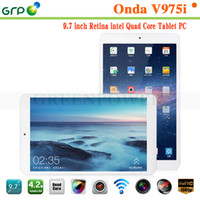 Cheap Original ONDA V975i Tablet PC Intel Z3735D Quad Core 9.7 Inch Retina Screen 2048x1536px 2GB RAM 32GB ROM With Bluetooth GPS HDMI Dual Camera