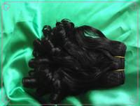 Color de la reina Funmi Grado del pelo 6A Color natural brazalete bouncy virginal brasileño del pelo humano del enrollamiento para su 3pcs / bundle agradable