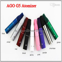 Wholesale AGO G5 Atomizer Clearomizer Wind proof for ego Electronic Cigarette Dry Herb Vaporizer G5 Pen Style E cig for Cut tobcco Liquid Herb DHL
