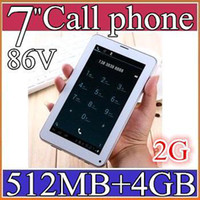 Wholesale 5PCS NEW Colorful Inch V A13 G GSM Phone Sim Calling Tablet PC Android GB M RAM Dual Camera Capacitive Screen Wifi PB07