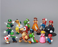Wholesale Super Mario Bros set quot quot yoshi dinosaur Figure toy Super mario yoshi figures PVC Retail And