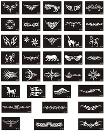 Wholesale 100pcs Temporary Glitter Tattoo Stencils For Body Art Pain Flash Tattoo Template For Small Tattoo Designs Makeup