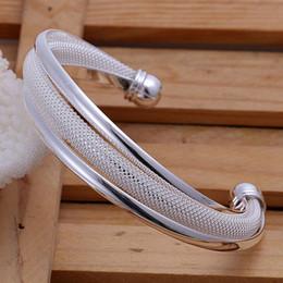 4pcs Women 925 Silver Bangle Bracelets Jewelry Mix 4 Styles 925 Silver Shinning Women Bangle Bracelets Free Shipping
