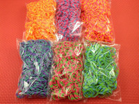 Wholesale Rainbow loom Rubbers Glitter amp Glow in the dark amp Metallic amp tie dye Rubber bands bands s chips with retail box