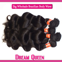 Peruvian Malaysian Indian Brazilian Hair Body Wave Can Be Dyed and Bleached Wholesale - 100% Unprocessed Virgin Peruvian Malaysian Indian Brazilian Body Wave 1KG DHL Free Shipping, Human Hair Weave Can Bleach and Dye