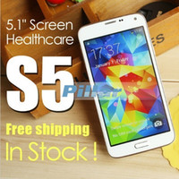 Wholesale HDC I9600 S5 G900F G900 inch Air Gesture heart rate Android WiFi quad Core MTK6582 GB RAM GB ROM G Unlocked