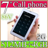 Wholesale SH MP5 Colorful Inch V A13 G GSM Phone Sim Calling Tablet PC Android GB M RAM Dual Camera Capacitive Screen Wifi PB07