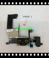 Wholesale For IPhone G Dock Connector Charger Flex Cable Headphone Audio Jack Ribbon Black Charging Port A325I5