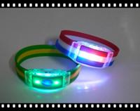 Wholesale Hot Brazil World Cup LED Luminous Bracelet Football Fans Souvenirs Sticks Electronic LED Luminous Bracelet Wristbands Wrist PP Bag Packaging