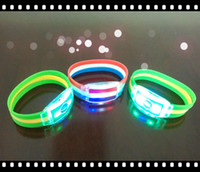 Wholesale Hot Brazil World Cup LED Flag Bracelet Football Fans Souvenirs LED Flag Wrist Strap with Famous National Team Logo Football Fans Souvenirs