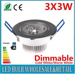 Dimmable 9W Ceiling Downlight LED Ceiling Lamp 3X3W Recessed Spot Light for Home Illumination Freeshipping