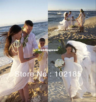 Cheap Wholesale-Free shipping!Megan Fox sweetheart sleeveless beach wedding dress with long train JWD026