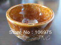 Wholesale AMBER JAPANESE CUP SHAPED POTTERY OCARINA TEACARINA FLUTE HANDICRAFT GIFT IDEAS CHRISTMAS BIRTHDAY