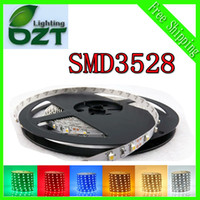 Wholesale 5m LED SMD3528 non waterproof SMD V flexible light led m color LED strip white warm white blue green red yellow