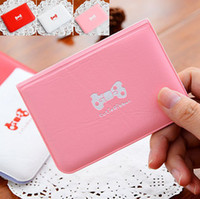 Wholesale Credit Card Holders Ladies Fashion Colors PVC Cute Bow Card bags Cards Sheets packages Case Good Gift For Girls