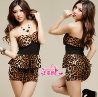 Woman Low Bosom Chandar Wholesale -Leopard babes sexy lingerie sexy dress uniforms KTV bar nightclub ladies wholesale clothing Role free shipping