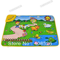 farm gates - New Music Animal Voice Singing Piano Farm baby play mat baby game carpet Educational Crawl Pad