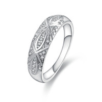 Wholesale 925 sterling silver ring women modern fine fashion jewelry inlaid stone circle ring R421