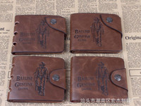 Wholesale Brand new Leather Wallet Cowboy Men Pockets Card Clutch Cente Bifold Purse AAA
