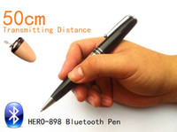 Wholesale 2014 new High Quality Bluetooth Pen With Spy Earpiece cm Long Transmitting Distance Can Listen During Writing