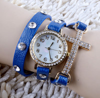 Wholesale Foreign trade sales fashion men s and women s watch Character set auger retro cross belt performance goods