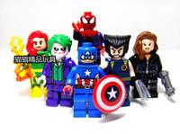 Wholesale legos Wolverine Spider Man Clown Figures Educaitonal Building Block Super Heroes Minifigures Toys