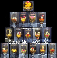 Wholesale Handmade Blooming Flower Flowering Green Artistic Tea with Decent Package Health care products