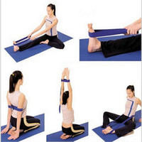 Cheap New Yoga Pilates Stretch Straps Resistance Exercise Workout Band Fitness Natural Tension Health